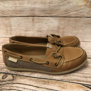 Sperry Shoes - Sperry Coil Ivy Boat Shoe Tan Leather Canvas